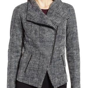 NWT Halogen XXL Women's Bonded Tweed Moto Jacket